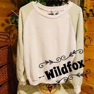 NWT Chic Wildfox studded sweatshirt